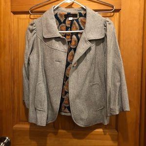 Crop 3/4 sleeve pea coat